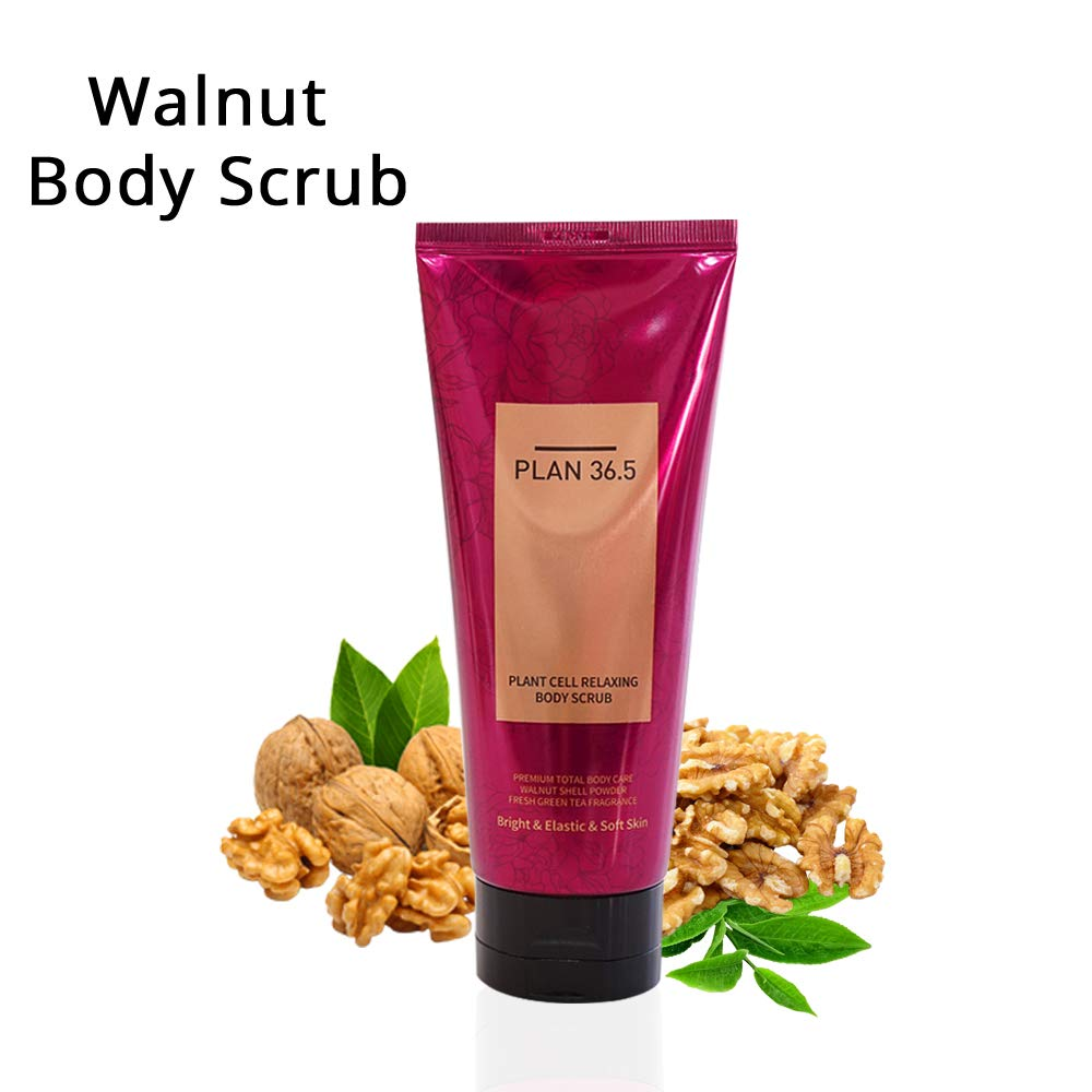 Plan 36.5 Walnut Body Scrub, 100% Natural Scrub, Exfoliator, Moisturizer, Removes Dead Skin, Nourishes Skin, For Oily Skin, Sensitive Skin, Dry Skin, For Women & Men by Plan36.5