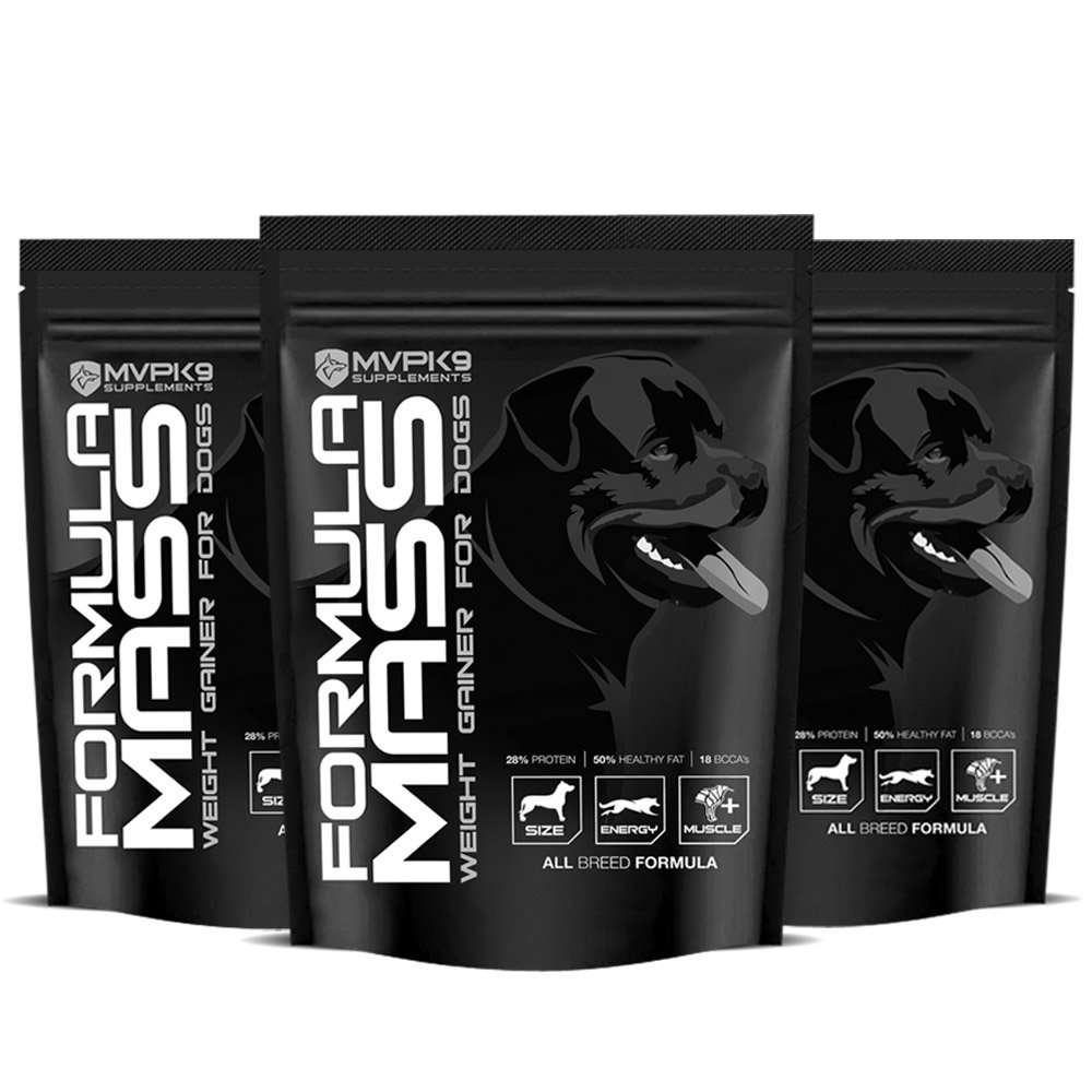 Formula Mass Weight Gainer for Dogs 90 Servings 3 Pack