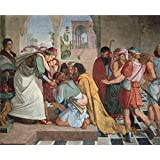 The Perfect effect canvas of oil painting 'Peter von Cornelius Joseph gibt sich seinen Brudern zu erkennen ' ,size: 8 x 10 inch / 20 x 25 cm ,this High Resolution Art Decorative Prints on Canvas is fit for Bedroom decor and Home gallery art and Gifts