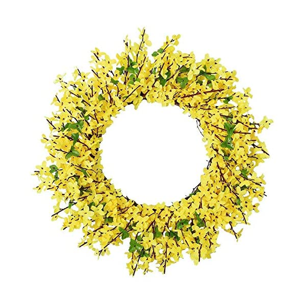 Simulation Yellow Garland, Artificial Wreaths Hanging Flower Vine Fake Flower, Wedding Party Decoration Floral, Outdoor Garden Greenery Accessories, Door Wall Decoration, Photography Props