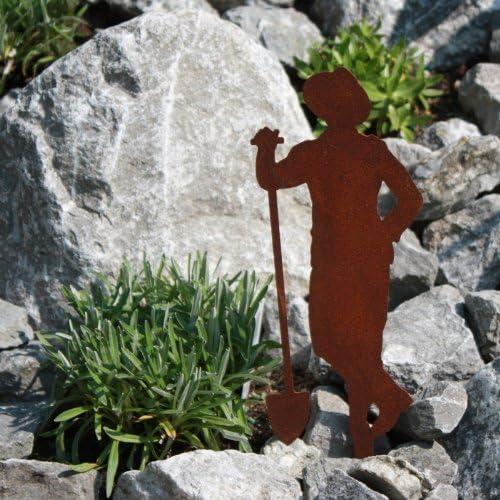 Spie/ß SAREMO Rost Figur G/ärtner Paul mit Schaufel ca H 21 cm
