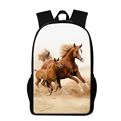 TOWIN Horse Backpack New Design Bookbag Animal Print Mochilas for Teenager CN-Scbackpacks