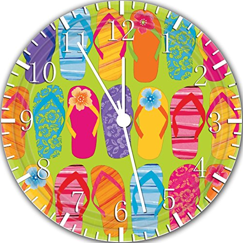 Flip Flops Frameless Borderless Wall Clock Z155 Nice for Gift or Room Wall Decor