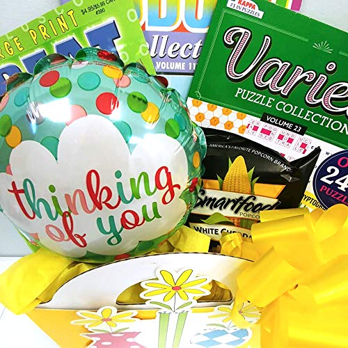 Thinking of You Gift Basket: for Women w/ Puzzle Books by GiftsFulfilled (Image #1)