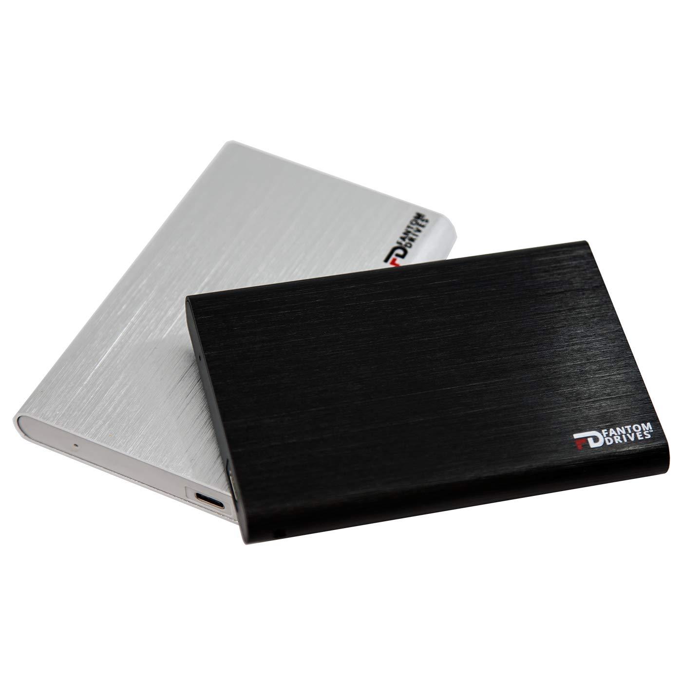 Fantom Drives External SSD 2TB USB 3.1 Gen 2 Type-C 10Gb/s - Silver - Windows - GFORCE 3.1 Portable SSD Series by Fantom Drives (Image #3)