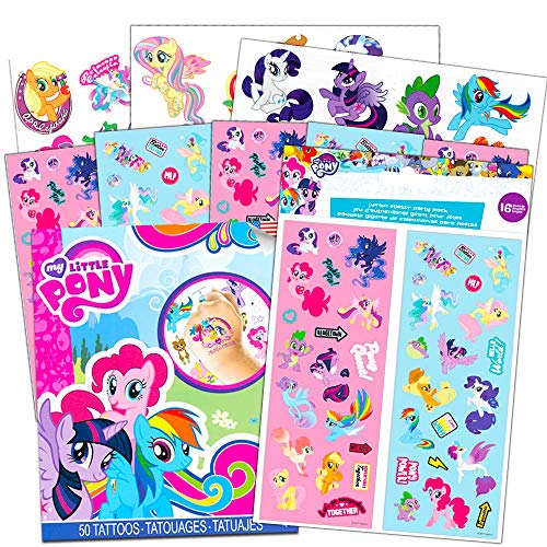 My Little Pony Stickers and Tattoos Party Favor Pack (Bundle Includes 70 Stickers and 50 Temporary Tattoos) - My Little Pony Stickers