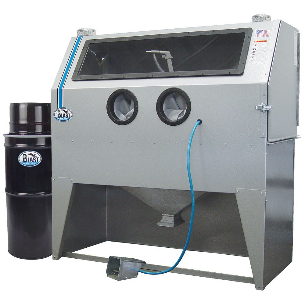 TP Tools USA 2858 Skat Blast Sandblast Sandblasting Cabinet with HEPA Vacuum, 58''W x 28''D x 28''H Work Area, Made in USA