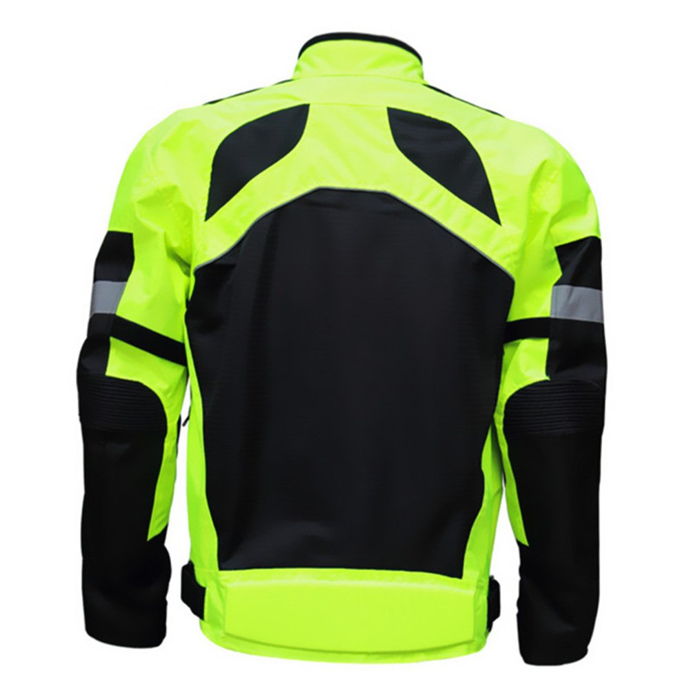 XL Mens Summer Motorcycle Jacket Racing Protective Gear Safety Clothing Chest:44.5