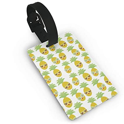 Amazon vsgd9xgs9 kawaii pineapple face with sunglasses luggage vsgd9xgs9 kawaii pineapple face with sunglasses luggage tags business card holder travel id bag tag in colourmoves