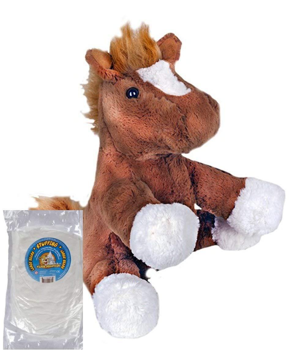 Gombita Enterprises Stuff Your Own 16インチ 縫い目のない動物キット - 栗色の馬 テディマウンテン - 詰め物と名前のパーソナライズされた歌詞バージョンも販売 16 inches 0067912400215 B07C91R6KK  キット