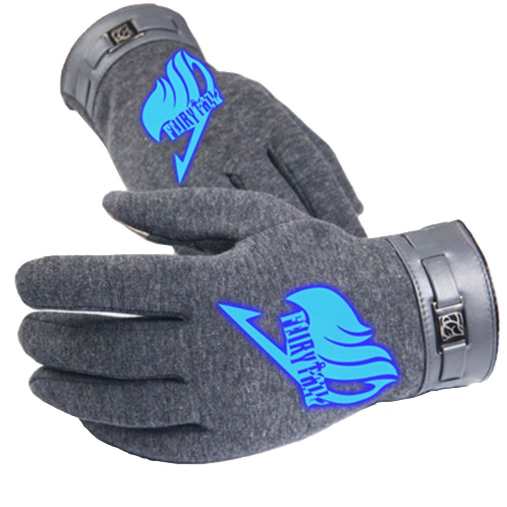 Bromeo Fairy Tail Anime Hiver Chaud Gants Gloves Mittens Lumineux /Écran Tactile