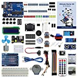 UCTRONICS Advanced Starter Kit for Arduino with Instruction Booklet, UNO R3, UNO R3 Proto Shied V3,Relay, Breadboard power supply, SG90 9g Servo, Remote Controller and IR Receiver