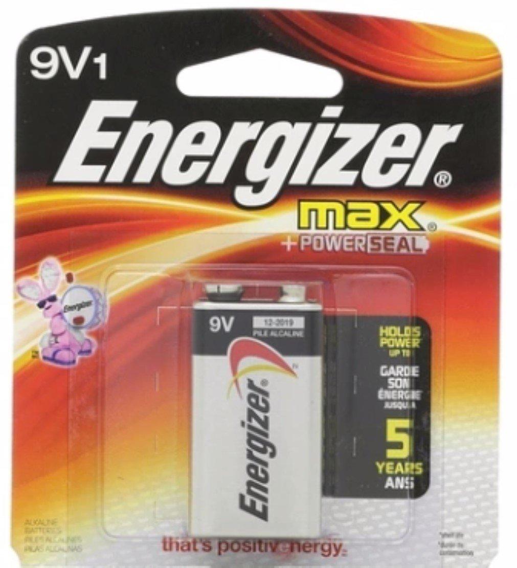 Energizer Max Alkaline Battery 9 Volt 1 Each (Pack of 6)