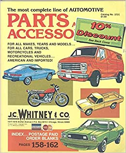 J C Whitney Co Parts And Accessories Catalog No 372e 1978 J C