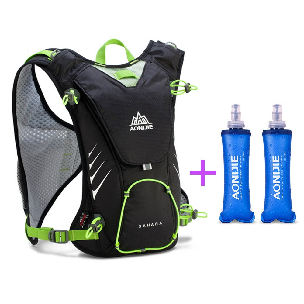 Amazon.com : AONIJIE Running Vest Pack Camping Hydration Backpack Waterproof Nylon 8L Sport Bag Marathon Cycling Hiking +Soft Water Bottle(Optional), Black, ...