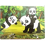 Gbell Wooden Jigsaw Puzzle Set,30×22×0.5CM Colorful Animal Jigsaw Board Educational Toy Gift for...