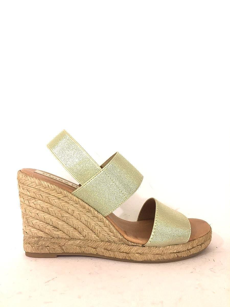 ZETA SHOES - Sandalias de vestir de Piel para hombre dorado