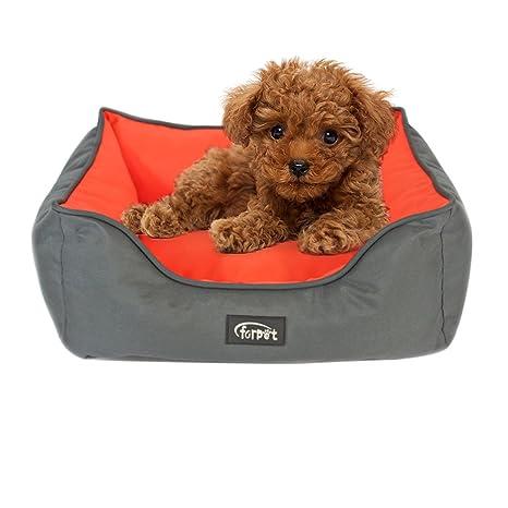 Zhaoke Cómodo Cama de Dormir para Mascotas con Cojín, Relleno de PP Algodón Blando y