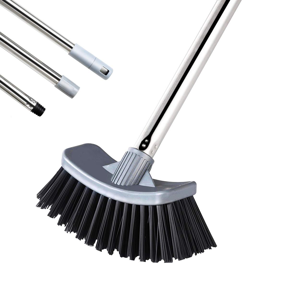 MEIBEI Hot Tub Scrub Brush with Long Handle -47'', Stiff Bristles Grout Brush, Perfect for Cleaning Bathtub/Spa/Pond and Small Above Ground Pool by MEIBEI