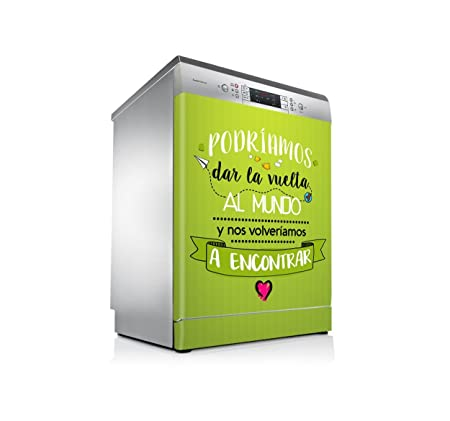setecientosgramos Vinilo Lavavajillas | Stickers Dishwasher | Pegatina Lavavajillas | Mundo (Green)