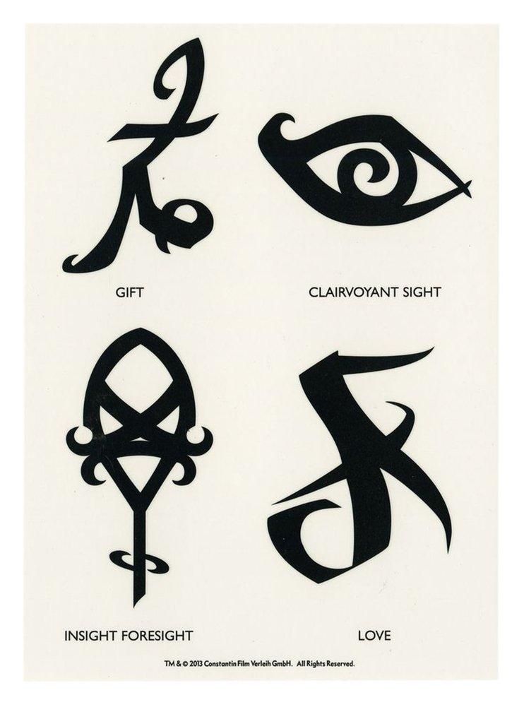 City of Bones 8 Transfer Tattoos - The Mortal Instruments