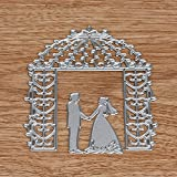 Usstore 1PC Stencils Template Mould Sliver Originality Wedding Combination Embossing Paper Card Craft Metal Cutting Dies DIY Scrapbooking (F)