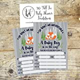 50-Fill-in-Fox-Baby-Shower-Invitations-Baby-Shower-Invitations-Woodland-Custom-Rustic-Jungle-Forest-Neutral-Baby-Shower-Invites-for-Boy-Baby-Shower-Invite-Cards-Baby-Invites-Printable