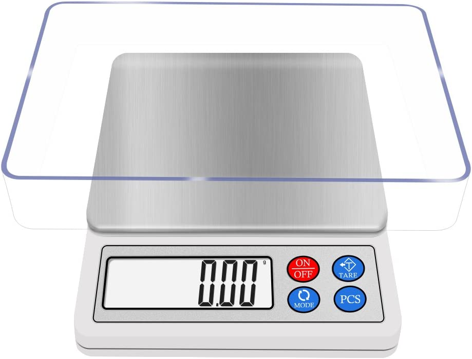Gram Scale Digital 600g Kitchen Scale NEXT-SHINE High-precision Pocket Mini Muti-functional Pro Scale with LCD Display Tare PCS Back-lit