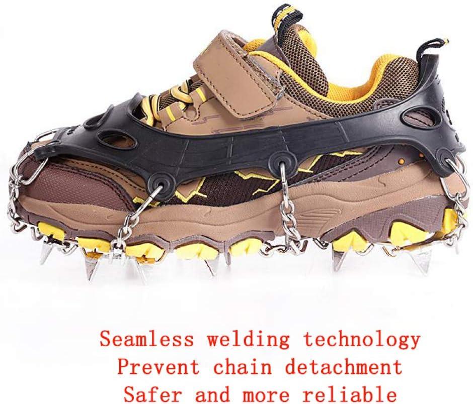randonn/ée p/édestre camping escalade en plein air Slip silicone Crampons neige chaussures couverture 18 dents pour enfants Crampons appropri/és pour la marche escalade Crampons Chaussures chasse