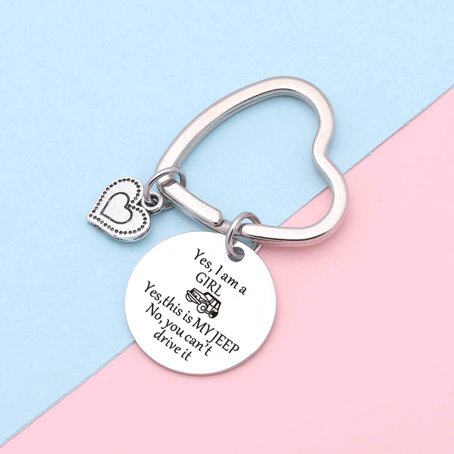 Jeep Girl Keychain Yes I am a Girl This is MY JEEP Jeep Owner Gift for Women Best Friend Gift Daughter Gift