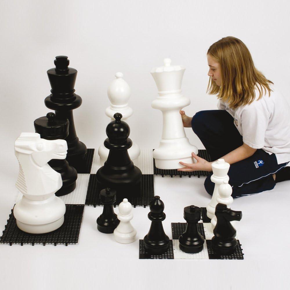 Juego de 32 Piezas de ajedrez Gigantes para Interiores y Exteriores, Mesa Tradicional y jardín: Amazon.es: Deportes y aire libre