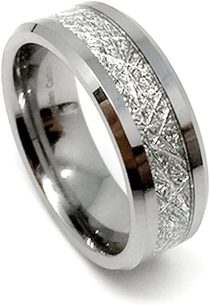 MEN/'S 7MM TUNGSTEN CARBIDE plain domed BAND RING GENUINE DIAMONDS size 8-14