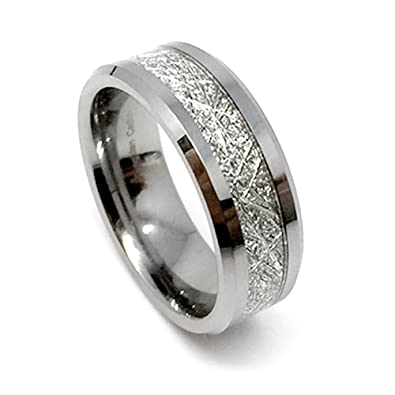 albee forever band blkdia diamond wedding inlay collection meteorite gibeon c foreverband ring with jacob rings diamonds and a champagne in black white bezel meteor