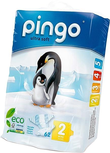 PAÑALES PINGO TALLA 2 3-6 KG