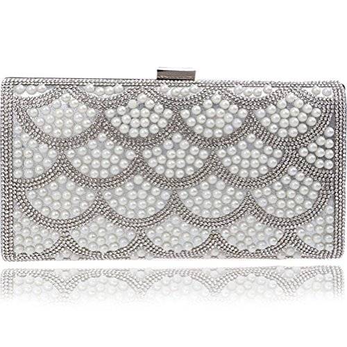 SHISHANG gorgeous pearl bag evening bag handbag bag evening Women's Silver luxury ladies ZYXCC fashion 0q0rpA