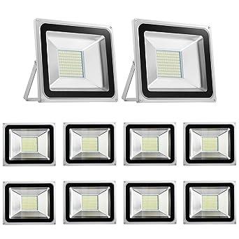Foco LED 100W Blanco frío 6500K /Blanco cálido 3500K, Proyector ...