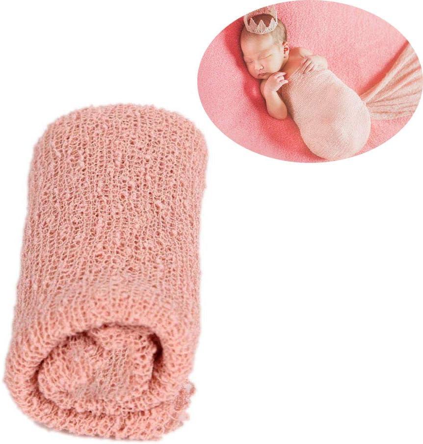 Newborn Fotografia, Capa protectora de tela de gasa para envolver a los bebés recién nacidos, Bebé recién nacido fotografía foto apoyos estirable punto Baby Swaddle Wrap manta