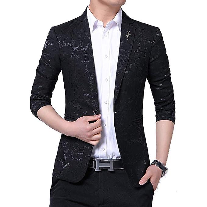 Amazon.com: Blazer casual de lujo para hombre de corte ...