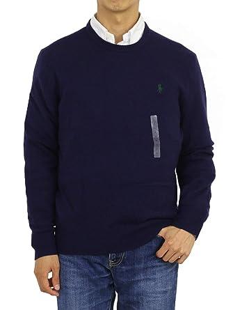 Polo Ralph Lauren Hombre Logo de Poni de Cuello Redondo Jersey de Lana: Amazon.es: Ropa y accesorios