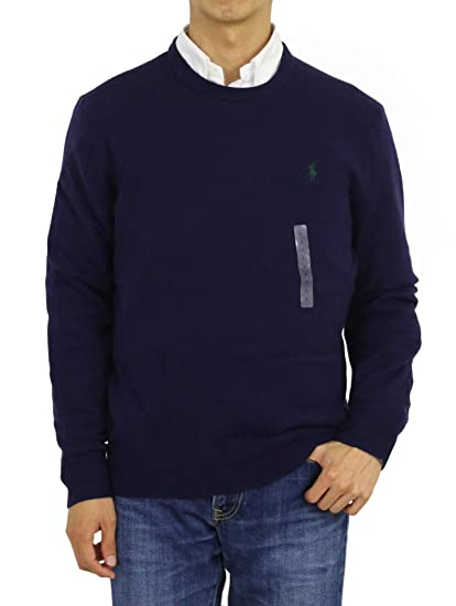Polo Ralph Lauren Mens Crew-Neck Wool Pony Logo Sweater: Amazon.es ...