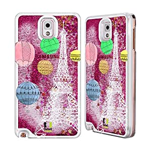 Head Case Designs Ich Träume de París Hot Rosa Funda Carcasa con flussigem Glitter para Apple iPhone Samsung Phones, compatible con Kompatibilität: Samsung Galaxy Note 3 N9000 / Samsung Galaxy Note 3 N9002 / Samsung Galaxy Note 3 N9005