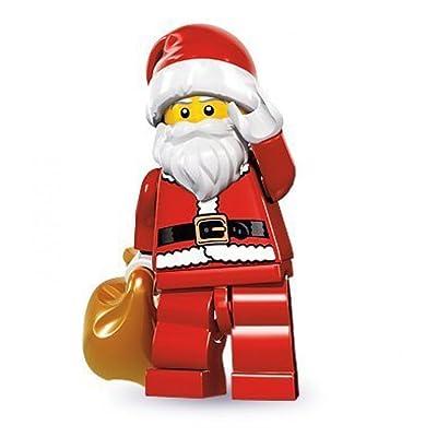 LEGO Series 8 Collectible Minifigure - Santa with Toy Sack: Toys & Games