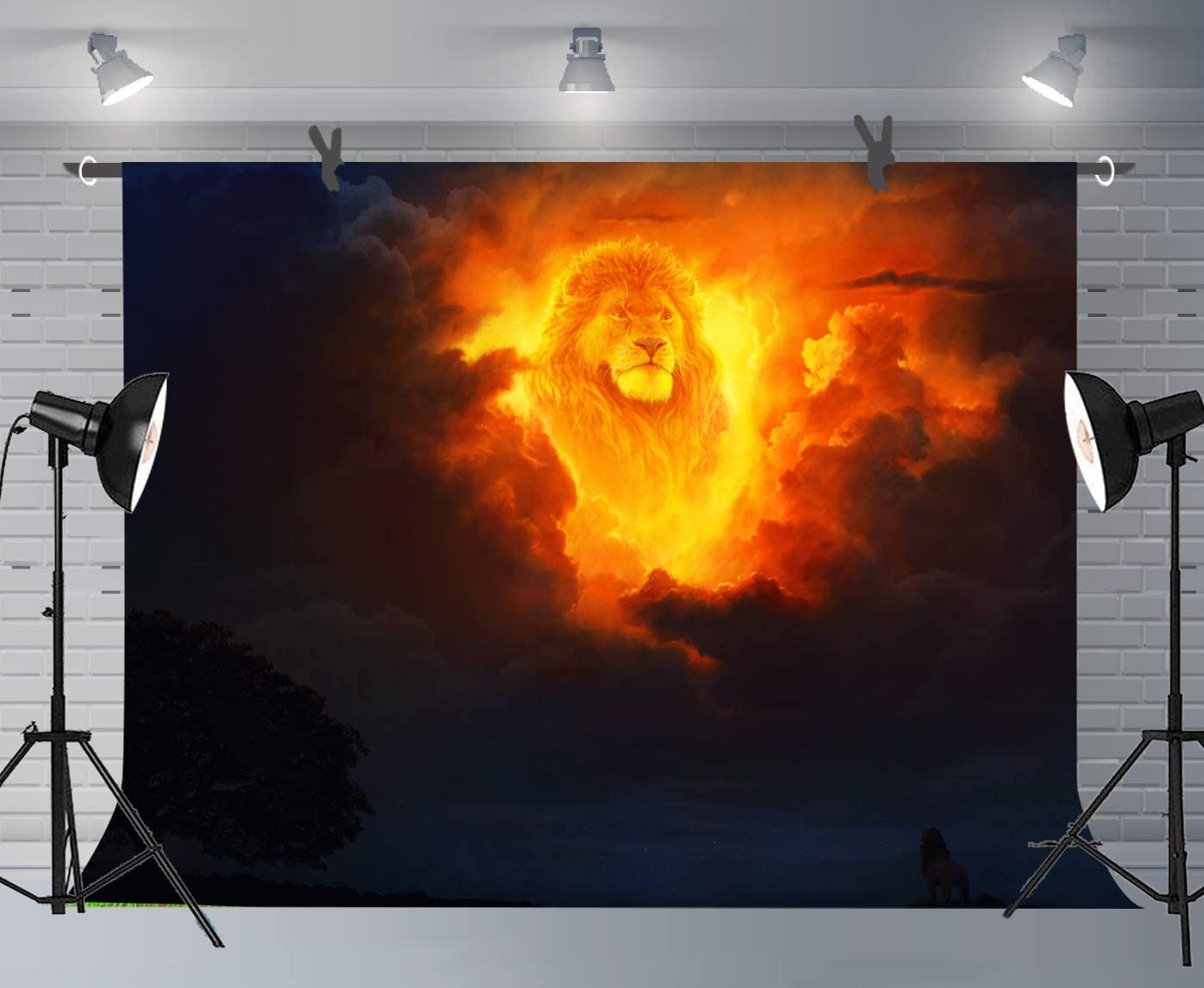 10x8ft Lion King Background Baby Shower Photography Backdrop Party Event Decor Photo Props LLFU048