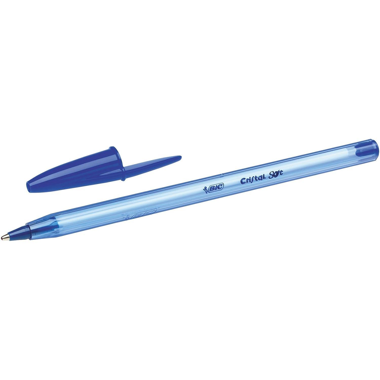 paquete de 10 Bic Cristal Pen Soft Bol/ígrafos con tinta negra