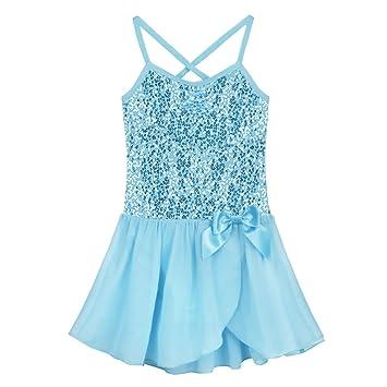fd0dda04abdf CHICTRY Girls Children Classic Sequined Camisole Ballet Dress Dance ...