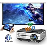 Mini Portable LED Home Theater Bluetooth Wireless HDMI Projector Smart LCD Android Wifi Video Projector HDMI USB VGA…