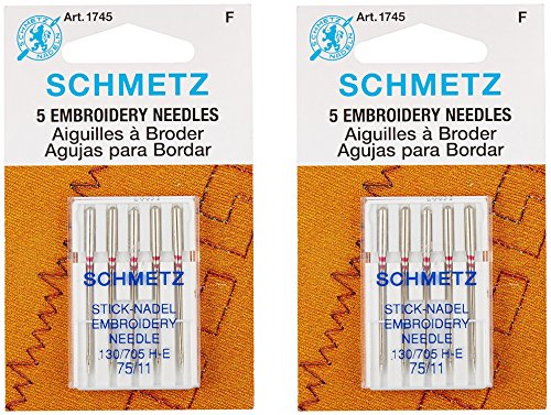 Find Cheap Euro-Notions Embroidery Machine Needles, Size 11/75, 5-Pack (2 pack)