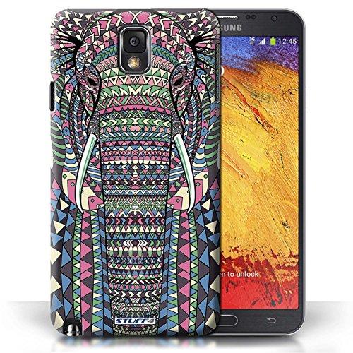 Etui / Coque pour Samsung Galaxy Note 3 / éléphant-Couleur conception / Collection de Motif Animaux Aztec
