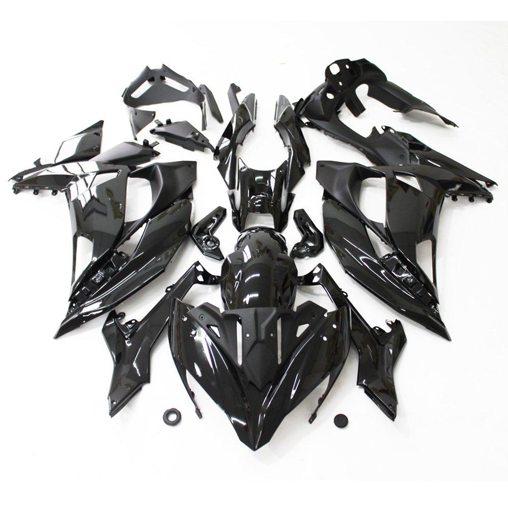 ZXMOTO Motorcycle Bodywork Fairings Kit for Kawasaki NINJA ER-6F 650F ER6R 2017 2018 Painted Glossy Black