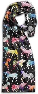 PIHJE Rainbow Galaxy Unicorns Women's Winter Scarf Long Shawl Warm Shawl For Men Women Blanket Lightweight Scarves